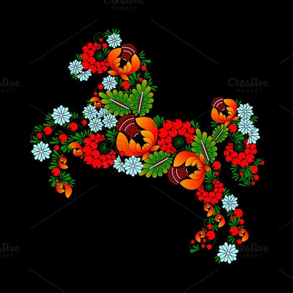 Horse.Ukrainian Traditional Painting