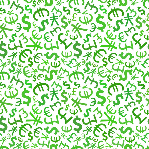 Green Signs Of World Currencies