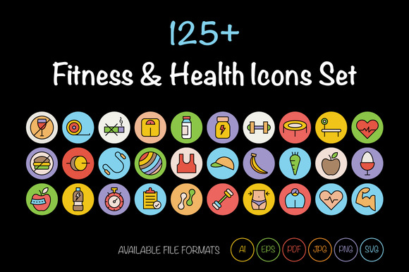 125 Fitness And Health Icons