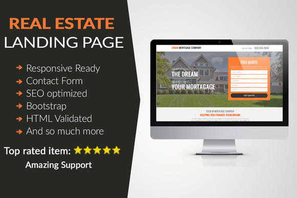 Real Estate Landing Page HTML $10off