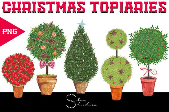 Christmas Topiaries Pack