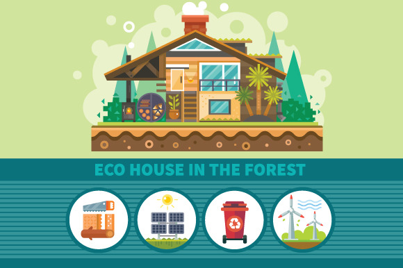 Ecological House In The Forest