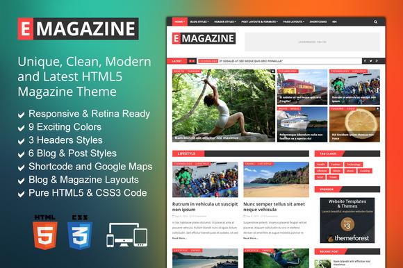 E Magazine Blog Magazine Theme