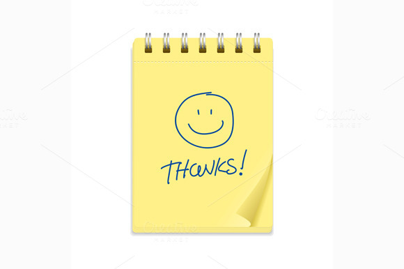 Yellow Note Paper And Smile Vector