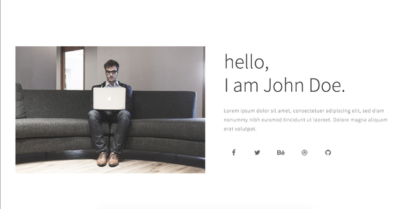 Peto Onepage Personal Template
