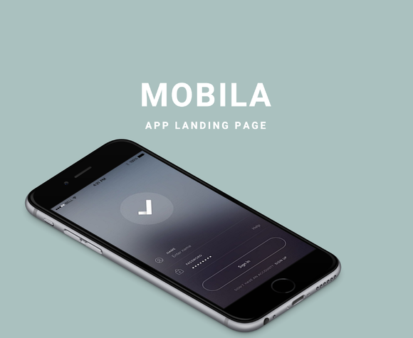 Mobila App Landing Page