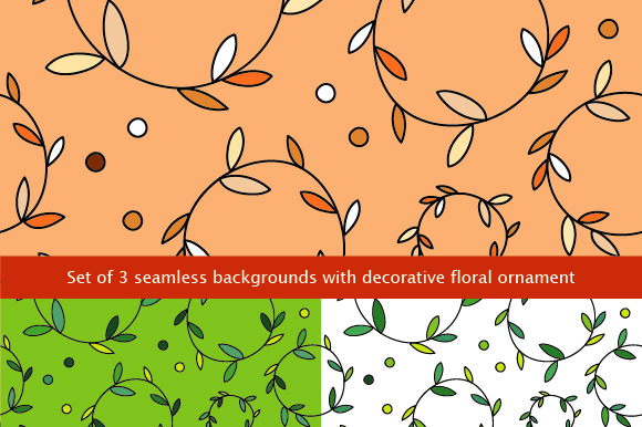 Set Of 3 Seamless Backgrounds