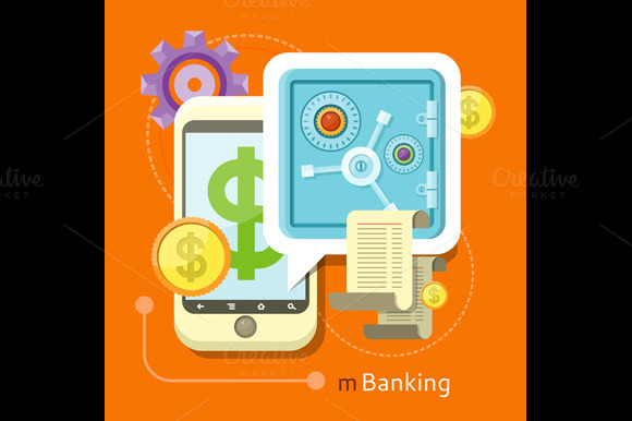 Internet Online Banking Concept