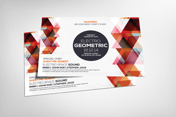 Geometric Flyer Template