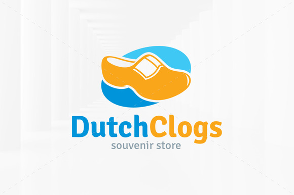 Dutch Clogs Logo Template