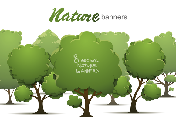 Nature Banners Bundle Vector