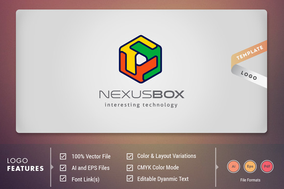 Nexus Box Logo Template