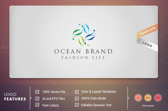Ocean Brand Logo Template