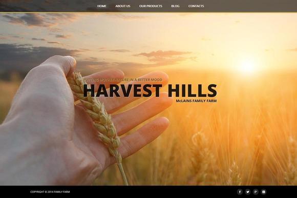 Harvest Hills Joomla 3 Template