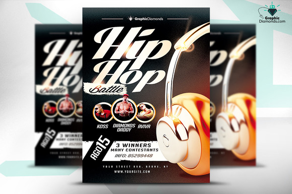 Hip Hop Battle Flyer PSD