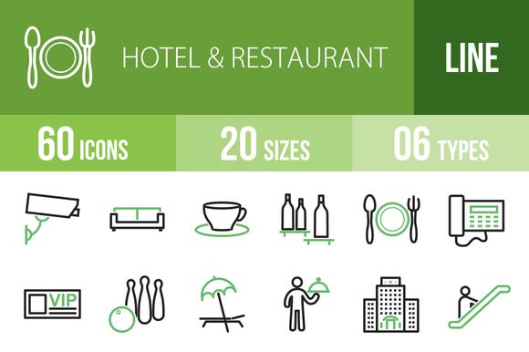 60 Hotel Restaurant Green Black