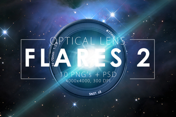 10 Optical Lens Flares Pack 2