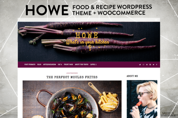 HOWE CLEAN FOODIE WORDPRESS WOO