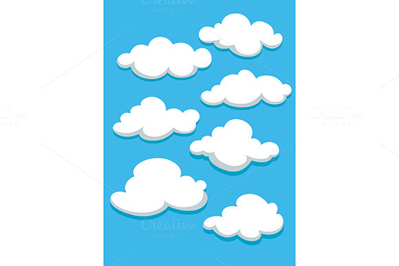 White Clouds Set On Blue Sky