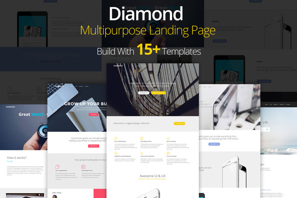 Diamond Landing Page Template
