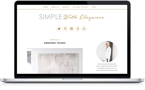 Feminine Wordpress Template