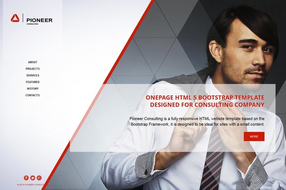 Pioneer OnePage HTML Theme