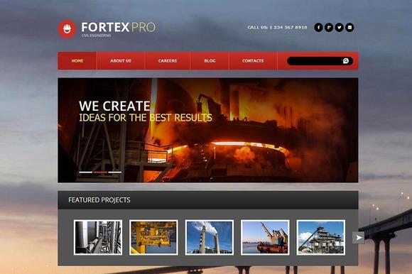 FortexPRO Joomla 3 Theme