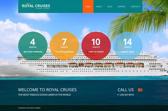Royal Cruises Joomla 3 Theme