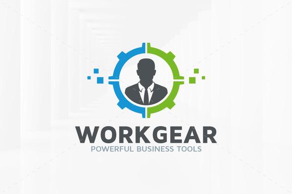 Work Gear Logo Template