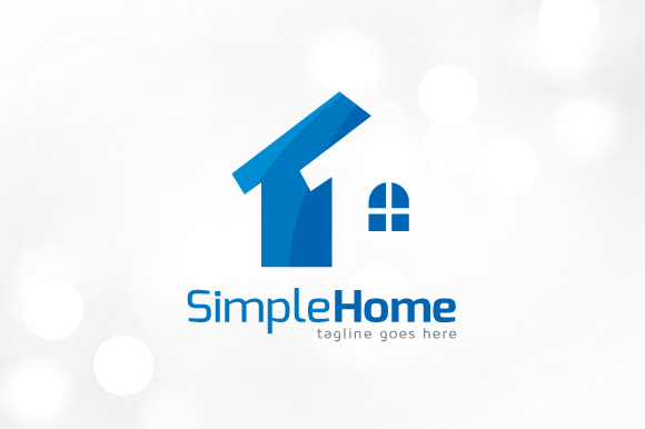 Simple home logo designtube creative design content for Minimalist house logo