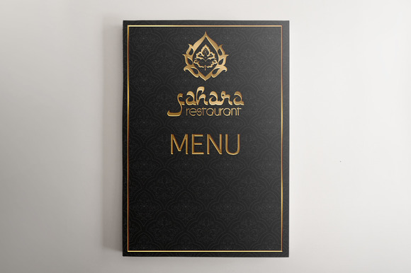 Black and gold menu background design designtube for Arabian cuisine menu