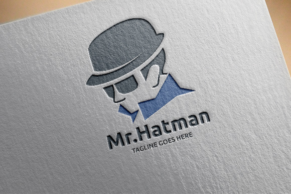 Hat Man Logo Template