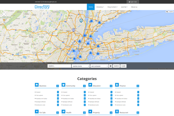 Directory Listing Joomla Template