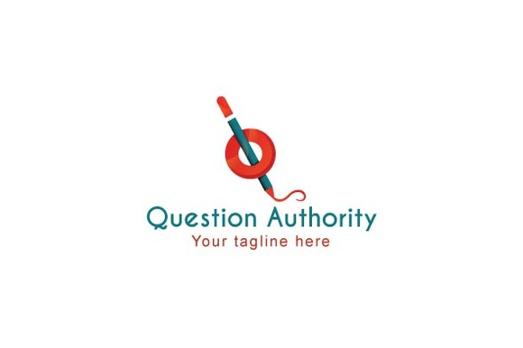 Question Authority Stock Logo Templa