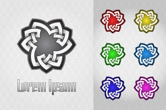 Trefoil Celtic Style Logo
