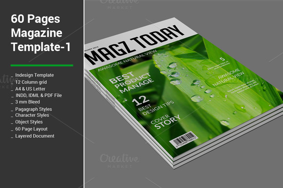 60 Pages Magazine Templates 1