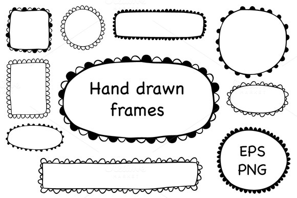 Hand Drawn Scalloped Frames