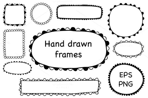 Hand Drawn Scalloped Frames
