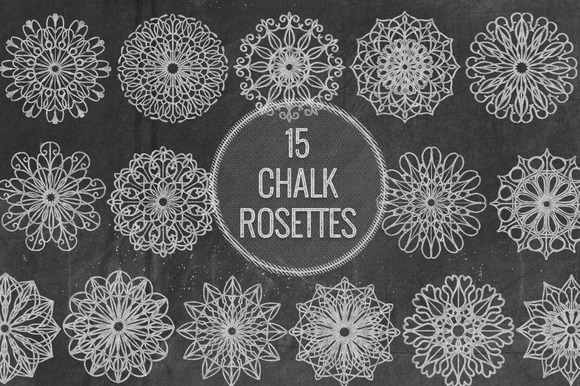 Chalk Rosettes