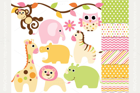 Clipart Combo Baby Animals