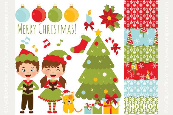 Clipart Combo Christmas Carols
