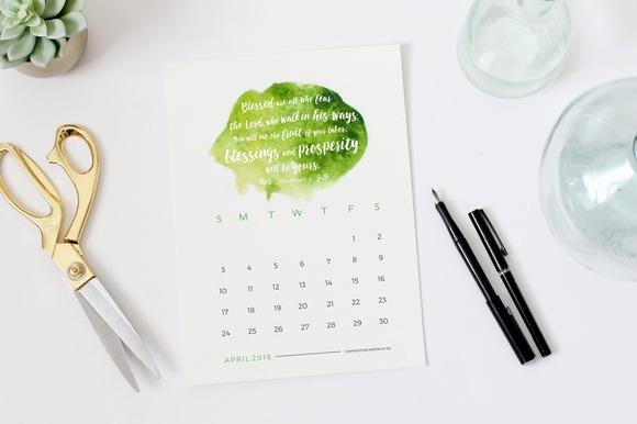 2016 Bible Verse Desk Calendar