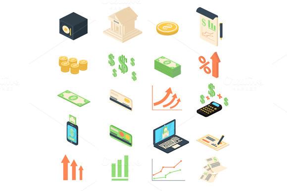 Finance Banking Management Icons Set
