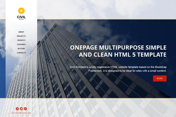 Civil OnePage HTML Theme