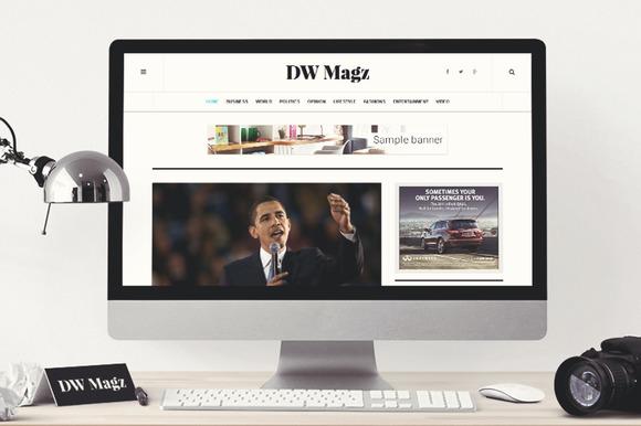 WordPress Magazine Theme DW Magz