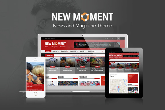 New Moment-Magazine WordPress Theme