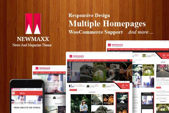 New Maxx Magazine WordPress Theme