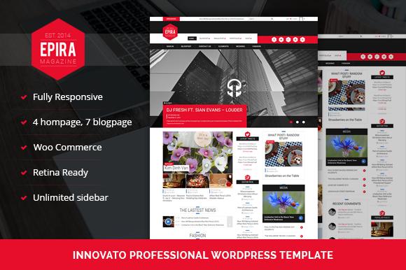 Epira Magazine WordPress Theme