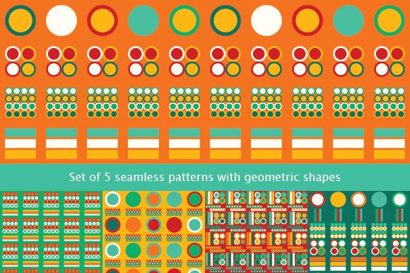 Set Of 5 Seamless Patterns