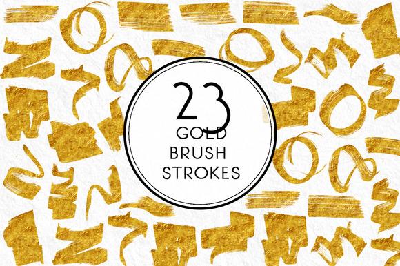 Gold Brush Strokes